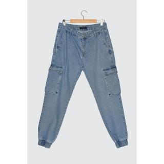 Trendyol Navy Blue Men Loose Fit Cargo Jogger Jeans pánské 29