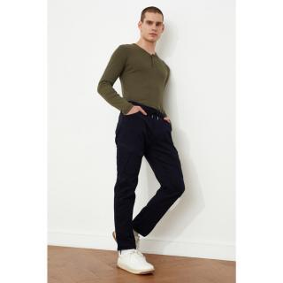 Trendyol Navy Blue Mens Cargo Slim Fit Pants pánské 38