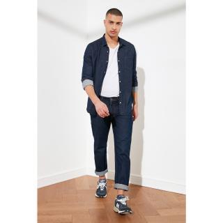 Trendyol Navy Blue Mens Regular Fit Jeans pánské 34
