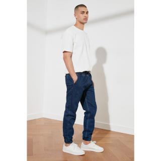 Trendyol Navy Blue Mens Relax Fit Jogger Jeans pánské 34