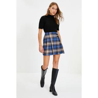Trendyol Navy Blue Plaid Skirt dámské Other 34