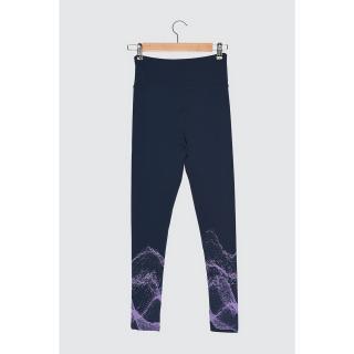 Trendyol Navy Blue Printed Sports Tights dámské XS