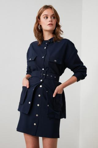 Trendyol Navy Button Skirt dámské 34