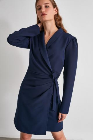 Trendyol Navy Clamping Detailed Dress dámské 38