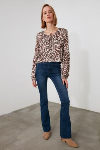 Trendyol Navy High Waist Jeans dámské 34