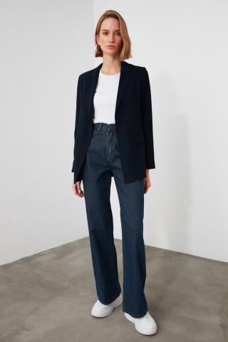 Trendyol Navy High Waist Wide Leg Jeans dámské 34