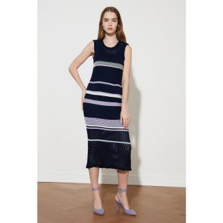Trendyol Navy Knitwear Dress dámské S