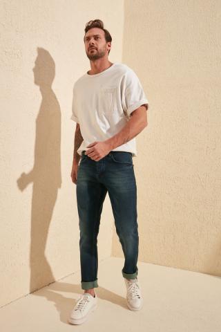 Trendyol Navy Men Slim Fit Jeans pánské 34