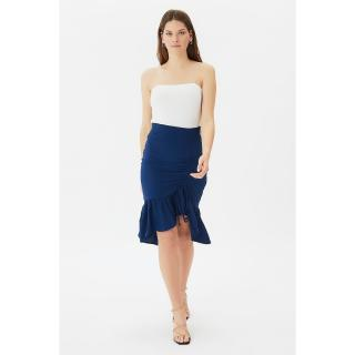 Trendyol Navy Pleated Skirt dámské 34