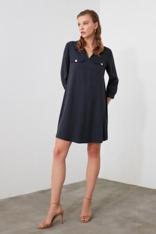 Trendyol Navy Pocket Detail Dress dámské 34