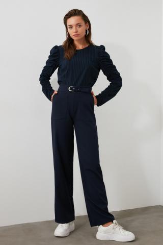 Trendyol Navy Pocket Detailed Pants dámské 34