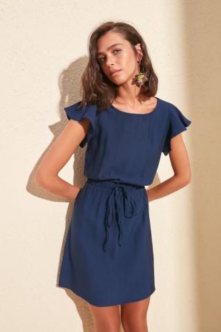 Trendyol Navy Sleeves Volli Dress dámské 34