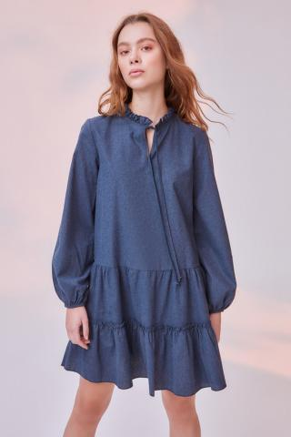 Trendyol Navy Wide Cut Frill dress dámské 34