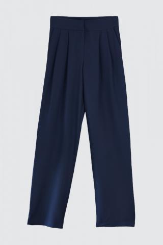 Trendyol Navy Wide Leg Pants dámské 40