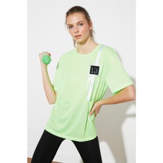 Trendyol Neon Green Pocket Detail Sport T-Shirt dámské Açık Haki S