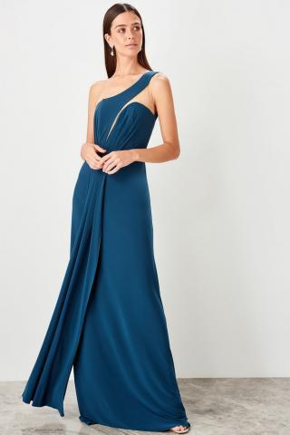 Trendyol Oil one shoulder evening dress dámské Petrol | Night Blue 34