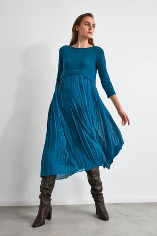 Trendyol Oil Pyreper Dress dámské Petrol 36