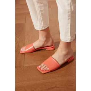 Trendyol Orange Blunt Nosed Womens Slippers dámské 36