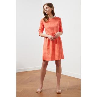 Trendyol Orange Square Dress dámské 34