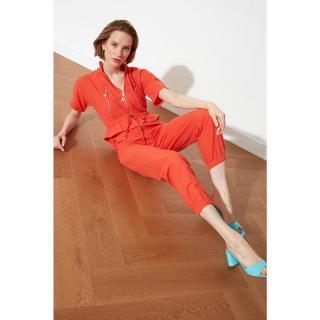 Trendyol Orange Zipper Detailed Overalls dámské 34