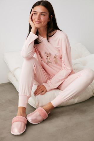Trendyol Pink House Slippers dámské 40.5