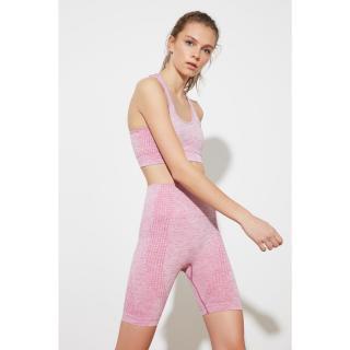 Trendyol Pink Knitted Sports Tights dámské XS