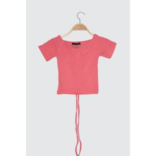 Trendyol Pink Pucker Knitted Blouse dámské M