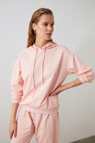 Trendyol Pink Seam Detailed Knitted Tracksuit Set dámské S