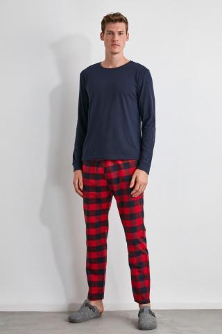 Trendyol Plaid Woven Pajama Set pánské Multi S