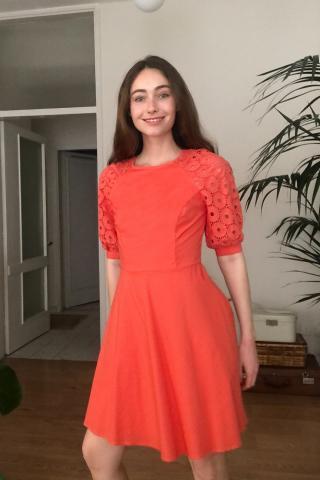 Trendyol Pomegranate Flower Sleeves Lace Dress dámské 34