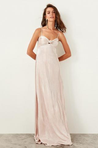 Trendyol Powdered Collar Detailed Dress dámské powder pink 34