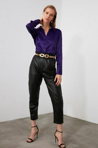 Trendyol Purple Basic Shirt dámské 34