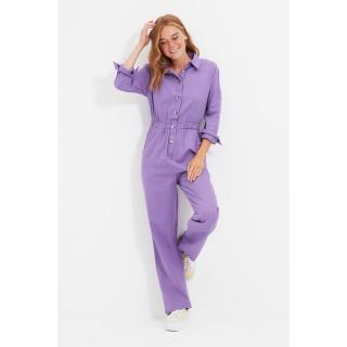 Trendyol Purple Button Jumpsuit dámské Other 34