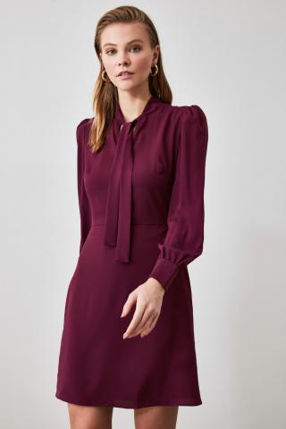 Trendyol Purple Collar Detailed Dress dámské 34