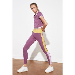Trendyol Purple Color Block Sports Tights XS
