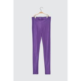 Trendyol Purple Gloss Knitted Tights dámské XS