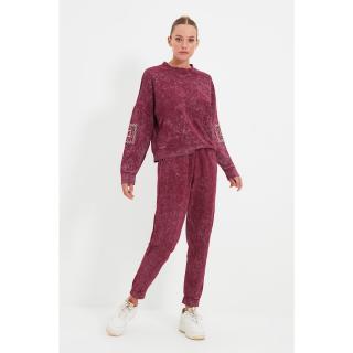 Trendyol Purple Loose Jogger Wash Slim Knitted Sweatpants dámské Other L