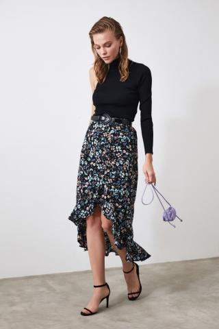 Trendyol Purple Slit Skirt dámské 34