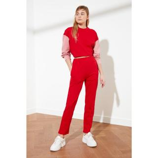 Trendyol Red Basic Jogger Knitted Tracksuit bottom dámské S