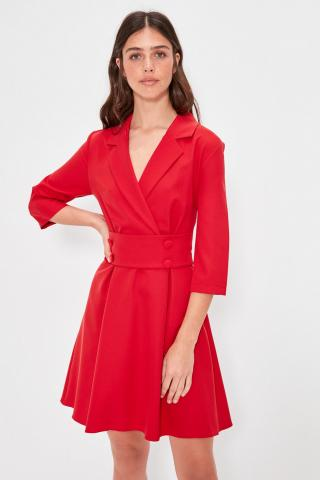 Trendyol Red Button Detailed Dress dámské 34