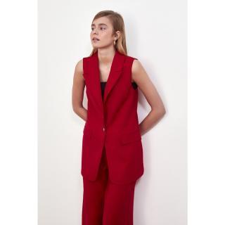 Trendyol Red Button Vest dámské 34