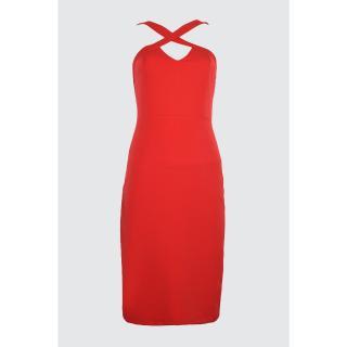 Trendyol Red Collar Detailed Dress dámské 34