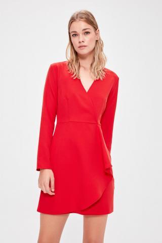 Trendyol Red Cruise Collar Dress dámské 34