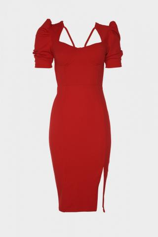 Trendyol Red Handle Dress dámské 34