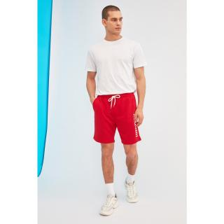 Trendyol Red Mens Regular Fit Shorts & Bermuda pánské S