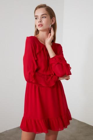 Trendyol Red Volli Dress dámské 34