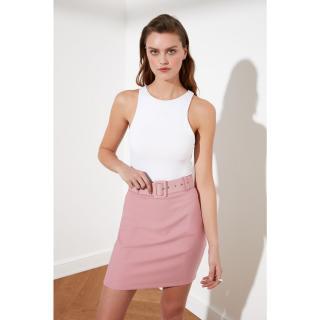 Trendyol Rose Dry Belt Detailed Skirt dámské 34