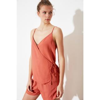 Trendyol Rose Dry Binding Detailed Woven Pyjama Set dámské XS