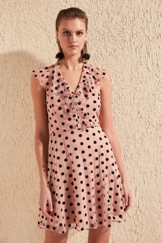 Trendyol Rose Dry Flok Printed Dress dámské 42