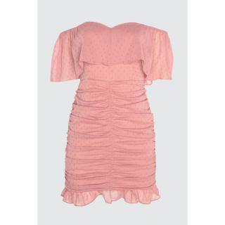 Trendyol Rose Dry Neck Detailed Dress dámské 34